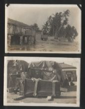 2 OLD Postcards Chinese coffins Malaya